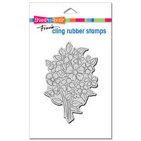 Stampendous - Cling Mounted Rubber Stamps - Bouquet Blooms