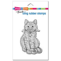 Stampendous - Cling Mounted Rubber Stamps - Sitting Kitty