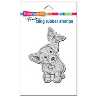 Stampendous - Cling Mounted Rubber Stamps - Curious Puppy