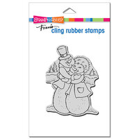 Stampendous - Cling Mounted Rubber Stamps - Christmas - Snow Couple Hug
