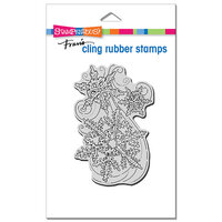 Stampendous - Cling Mounted Rubber Stamps - Christmas - Snow Swirls
