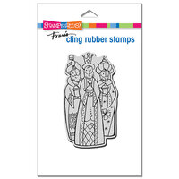 Stampendous - Christmas - Cling Mounted Rubber Stamps - Wisemen Trio