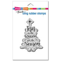 Stampendous - Cling Mounted Rubber Stamps - Christmas - Jesus Is