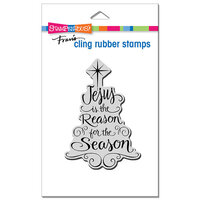 Stampendous - Christmas - Cling Mounted Rubber Stamps - Jesus Is