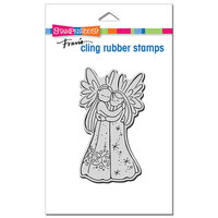Stampendous - Cling Mounted Rubber Stamps - Christmas - Angel Hugs