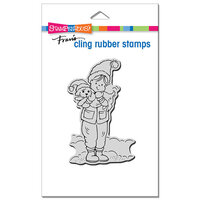 Stampendous - Christmas - Cling Mounted Rubber Stamps - Puppy And I