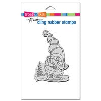 Stampendous - Christmas - Cling Mounted Rubber Stamps - Santa Puppy