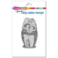 Stampendous - Christmas - Cling Mounted Rubber Stamps - Penguin Nestle
