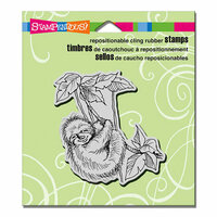 Stampendous - Cling Mounted Rubber Stamps - Sloth Swing