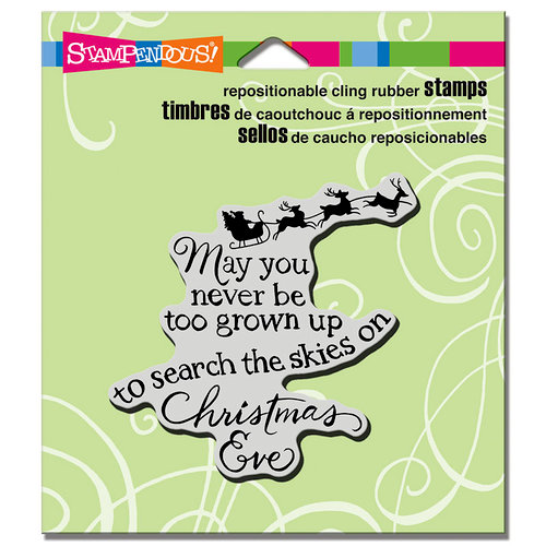 Stampendous - Christmas - Cling Mounted Rubber Stamps - Christmas Sky
