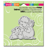 Stampendous - Christmas - Cling Mounted Rubber Stamps - Bunny Cherub