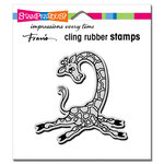 Stampendous - Cling Mounted Rubber Stamps - Yoga Giraffe
