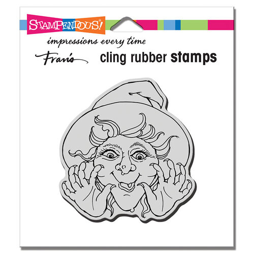 Stampendous - Halloween - Cling Mounted Rubber Stamps - Surprise Witch