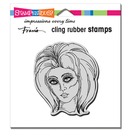 Stampendous - Halloween - Cling Mounted Rubber Stamps - Zombie Girl