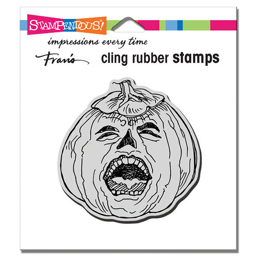Stampendous - Halloween - Cling Mounted Rubber Stamps - Pumpkin Scream