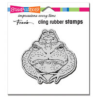 Stampendous - Cling Mounted Rubber Stamps - Toad Twosome