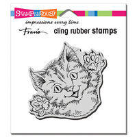 Stampendous - Cling Mounted Rubber Stamps - Cat Attack