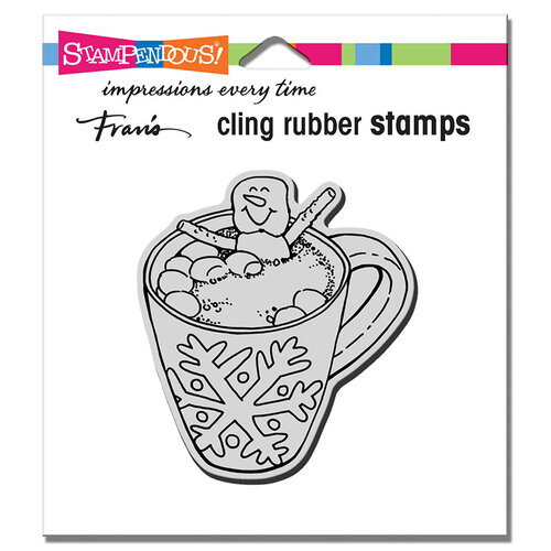 Stampendous - Christmas - Cling Mounted Rubber Stamps - Cocoa Hot Tub