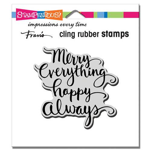 Stampendous - Christmas - Cling Mounted Rubber Stamps - Merry Always