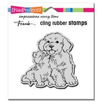 Stampendous - Cling Mounted Rubber Stamps - Kitty Kiss