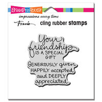 Stampendous - Cling Mounted Rubber Stamps - Your Friendship