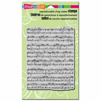 Stampendous - Cling Mounted Rubber Stamps - Music Score