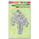 Stampendous - Cling Mounted Rubber Stamps - Sweet Pea Bouquet