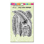 Stampendous - Cling Mounted Rubber Stamps - Feathers