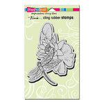 Stampendous - Cling Mounted Rubber Stamps - Dragonfly Lily
