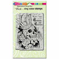 Stampendous - Halloween - Cling Mounted Rubber Stamps - Crowned Skull