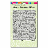 Stampendous - Christmas - Cling Mounted Rubber Stamps - Happy Howlidays