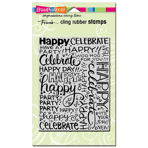 Stampendous - Cling Mounted Rubber Stamps - Party Background