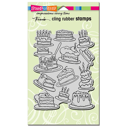 Stampendous - Cling Mounted Rubber Stamps - Cake Background