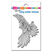 Stampendous - Cling Mounted Rubber Stamps - Owl Swoop