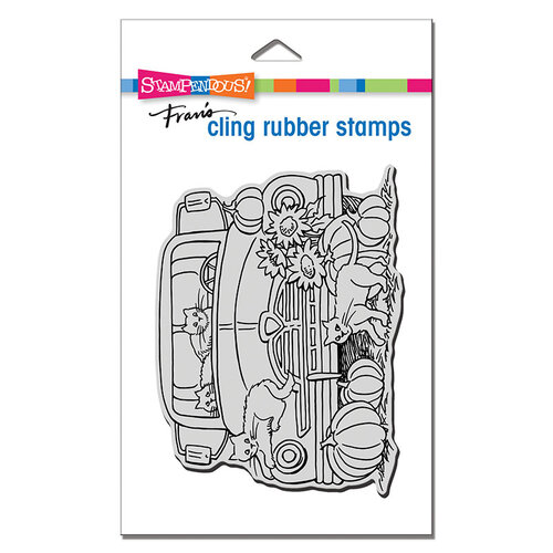 Stampendous - Cling Mounted Rubber Stamps - Autumn Truck