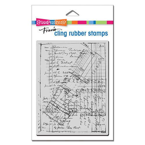 Stampendous - Cling Mounted Rubber Stamps - Ledger Script