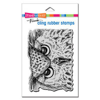 Stampendous - Halloween - Cling Mounted Rubber Stamps - Owl Eyes