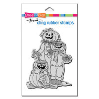 Stampendous - Halloween - Cling Mounted Rubber Stamps - Pumpkin Pals