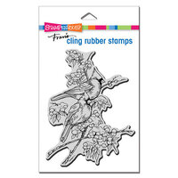 Stampendous - Cling Mounted Rubber Stamps - Cardinal Pair