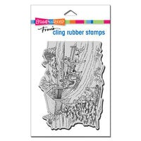 Stampendous - Christmas - Cling Mounted Rubber Stamps - One Horse Sleigh