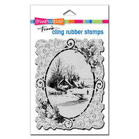 Stampendous - Christmas - Cling Mounted Rubber Stamps - Vintage Vignette