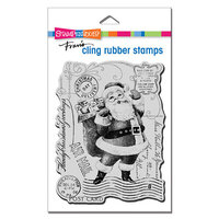 Stampendous - Christmas - Cling Mounted Rubber Stamps - Santa Post