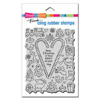 Stampendous - Christmas - Cling Mounted Rubber Stamps Candy