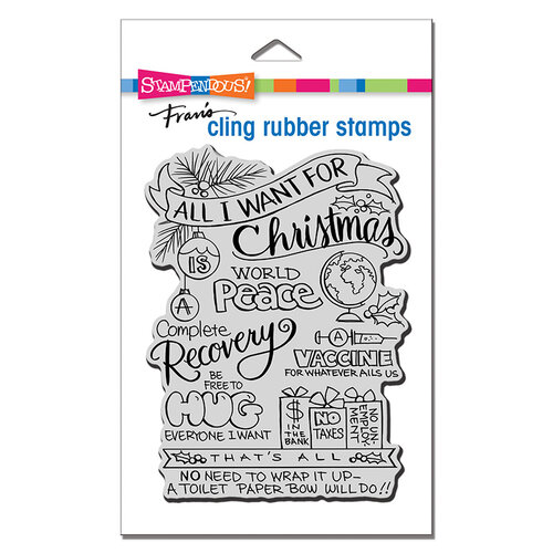 Stampendous - Cling Mounted Rubber Stamps - All For Christmas