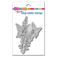 Stampendous - Cling Mounted Rubber Stamps - Lacy Butterflies