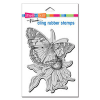 Stampendous - Cling Mounted Rubber Stamps - Painted Lady