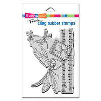 Stampendous - Cling Mounted Rubber Stamps - Dragonfly Song