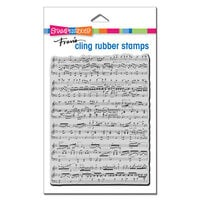 Stampendous - Cling Mounted Rubber Stamps - Background Music
