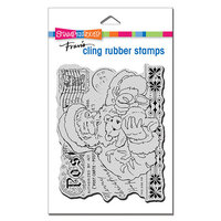 Stampendous - Christmas - Cling Mounted Rubber Stamps - Santa's Teddy