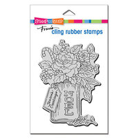 Stampendous - Christmas - Cling Mounted Rubber Stamps - Noel Flowers